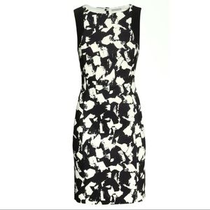 H&M Abstract Print Sleeveless Career Dress Size 2